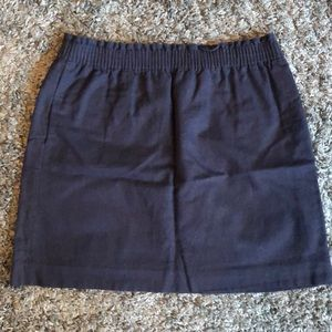 J. Crew Factory Sidewalk Skirt (Navy)